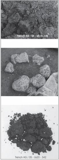 Fig. 9: Sicilian Naxos: pigments from the shipsheds.