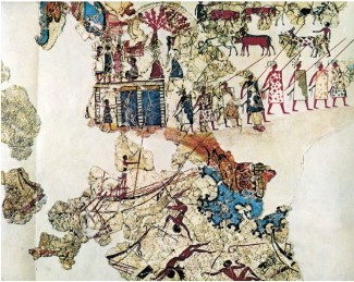 Possible shipsheds from Thera fresco