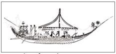 Fig. 6: Thera fresco (West House, Room 5, South wall): a large ship.