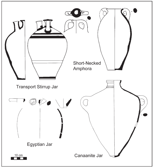 Fig. 5: Thera fresco (West House, Room 5, South wall): ships drawn up on shore.